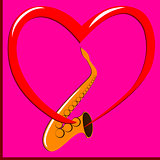 Red heart and Saxophone