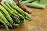 fresh green organic asparagus - spring vegetable