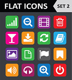 Universal Colorful Flat Icons. Set 2.