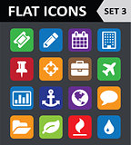 Universal Colorful Flat Icons. Set 3.