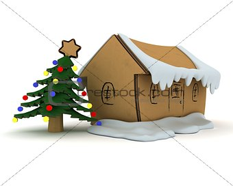 Little craft Christmas house
