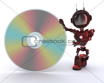 Android with DVD Disc