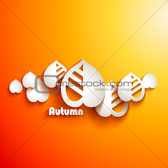 Autumn leaves. Abstract vector background
