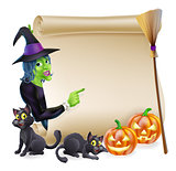 Witch Scroll Halloween Banner