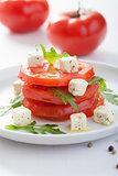 salad with tomatoes and feta