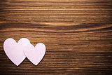 Wood hearts.
