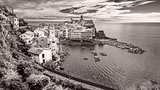 Panoramic vintage view of Vernazza, Cinque Terre