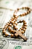 rosary beads on us dollars
