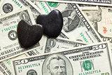 stone hearts on us dollars
