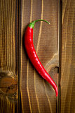 chili pepper on wooden background