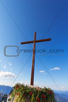 Cross Against the Blue Sky - Lussari Italy