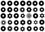 Different Gear Shapes Isolated