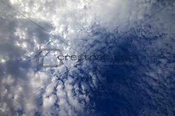 Sky with clouds in summer day