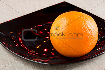 A ripe orange
