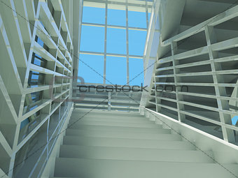 Architecture: staircase and windows
