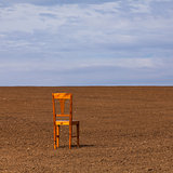 The chair on the field