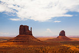 Famous Monument Valley in USA