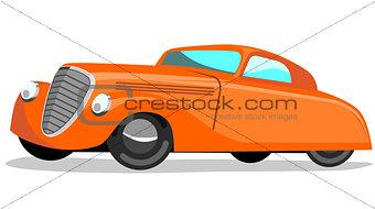 Car Retro Orange