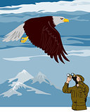 Man Watching Eagle