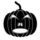 Black pumpkins for Halloween. Vector illustration.