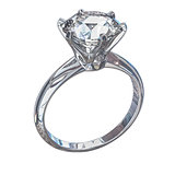 Isolated Diamond Ring Illustration