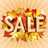 Vector illustration of Sale word for sales promotion.