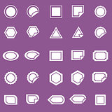 Label icons on violet background