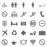 Plublic icons on white background