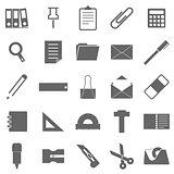 Stationary icons on white background