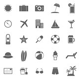 Summer icons on white background