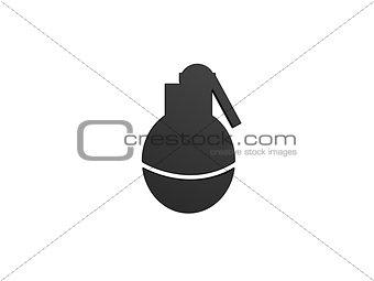 black grenade symbol