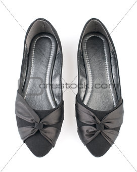Pair of black casual woman shoes
