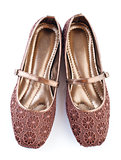 Brown lace casual woman shoes