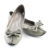 Woman casual grey flat shoes