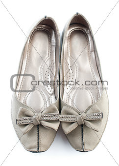 Casual grey flat shoes