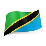 State flag of Tanzania.