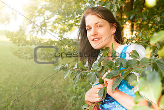 woman in bavarian traditional dirndl