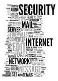 internet security text cloud