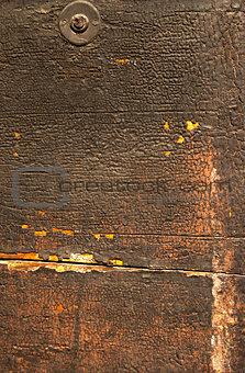 Old Wooden Door with Cracked Paint
