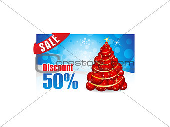abstract christmas discount gift card