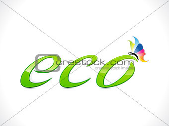 abstract shiny eco text