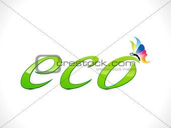 abstract shiny eco text