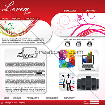 abstract artistic web design template