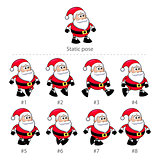 Santa Claus walking frames.