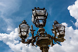 Street Lantern on the Alexandre III Bridge against Cloudy Sky, P