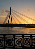 bridge in sunset - Riga
