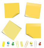 Yellow sticky paper