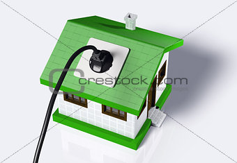 Small house connected to the electric current