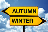 Autumn or winter, opposite signs