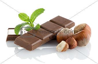 Closeup detail of chocolate parts